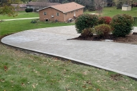curved sloping driveway