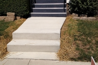 front steps and walk