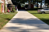 longer driveway project
