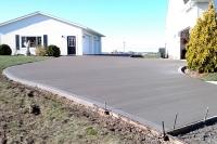 new curved upward grade driveway