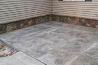 patio with stone work