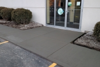 sidewalk replacement at bank