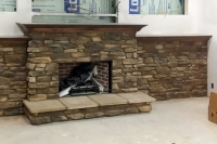 stone fireplace work