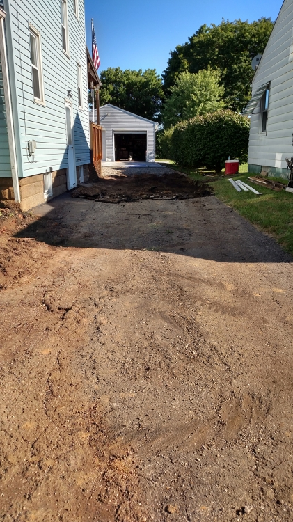 old blacktop removed