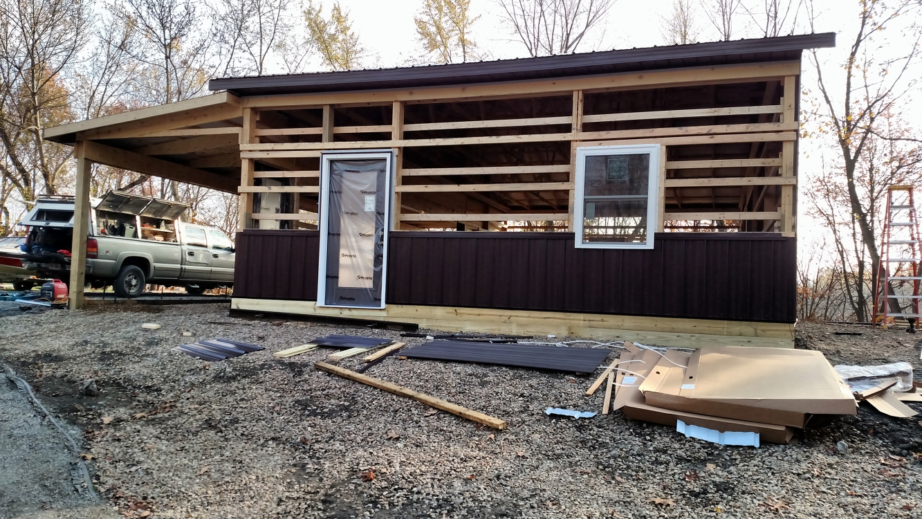 pole building floor project