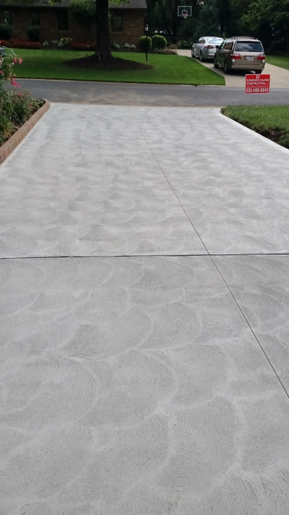 completed driveway