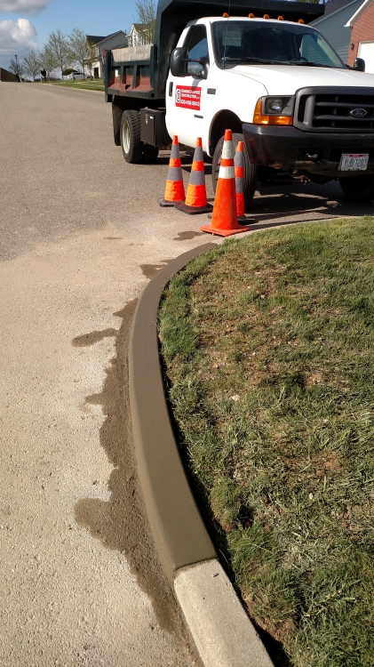 completed curb repair