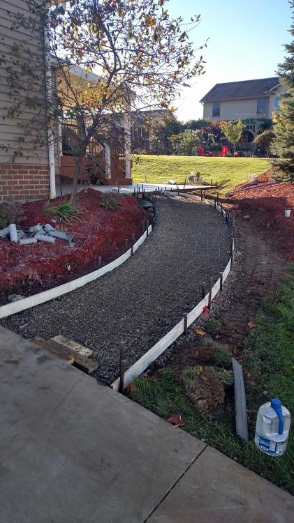 preparing to pour concrete