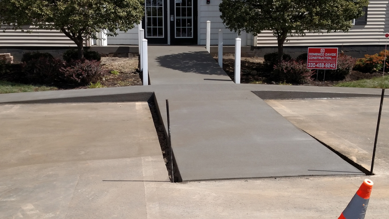completed ramp and walk