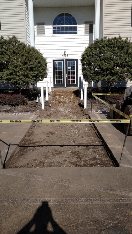 more sidewalk cleared
