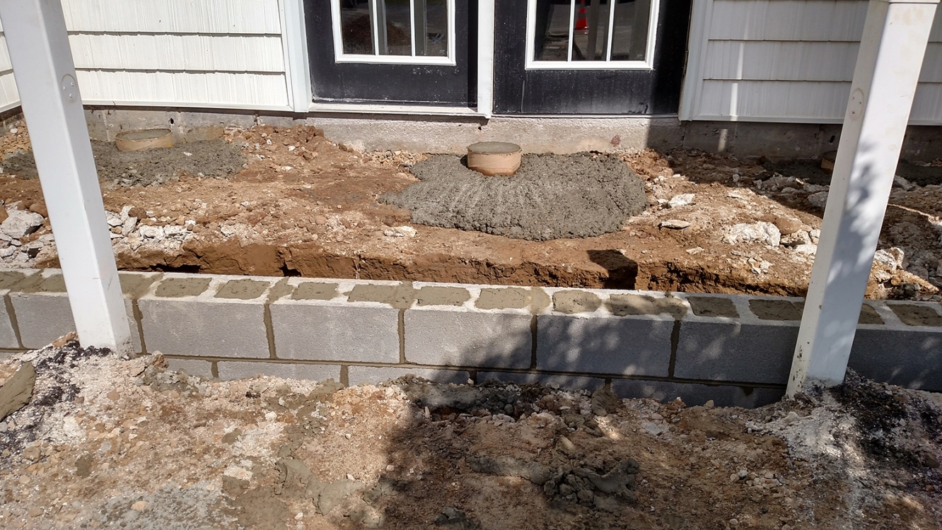 preparing for new base/foundation