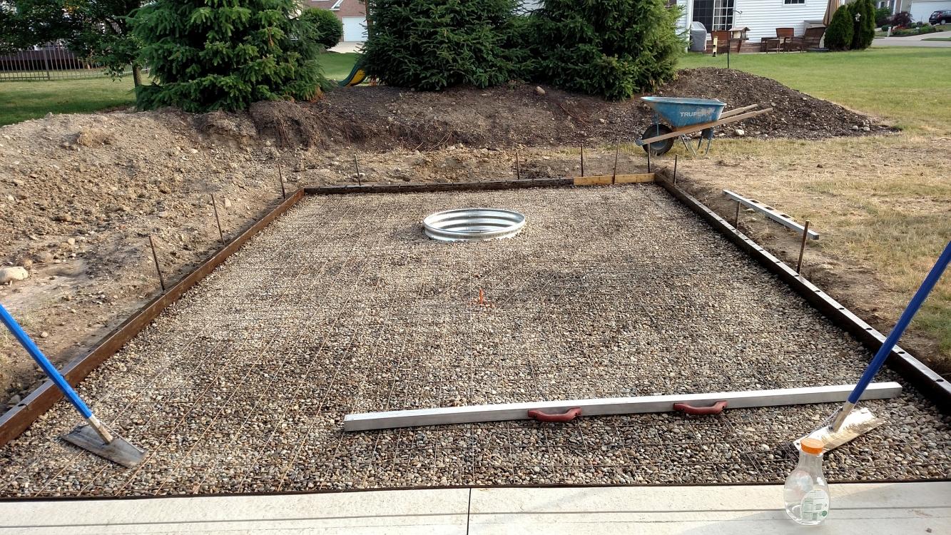 leveling patio area