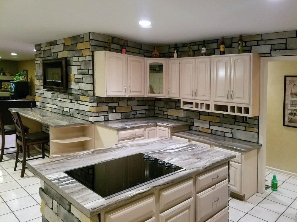 new stone kitchen