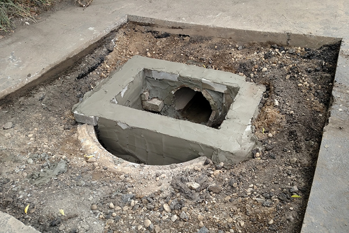 repairing collapses catch basin
