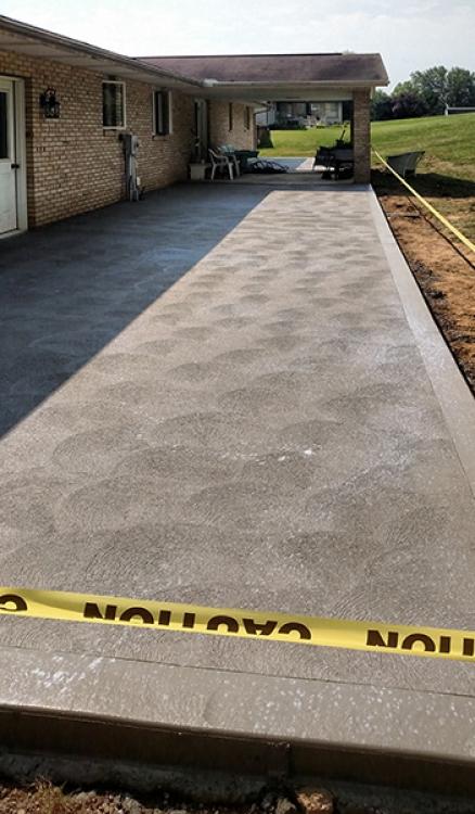 rear patio along length of home