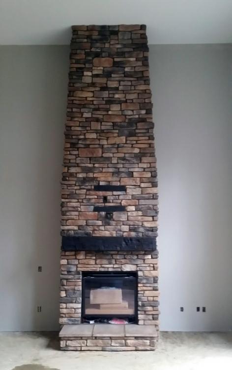 interior fireplace stone work