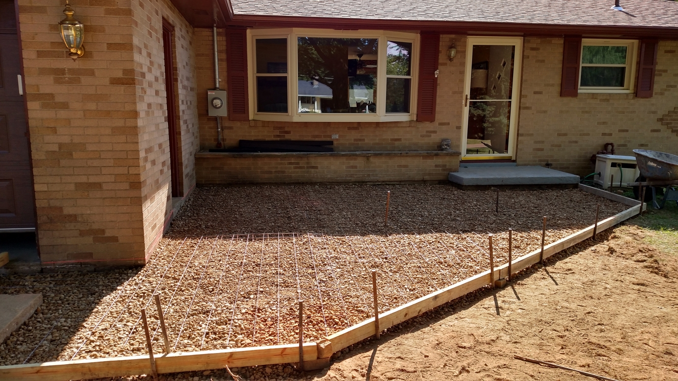 preparing front patio