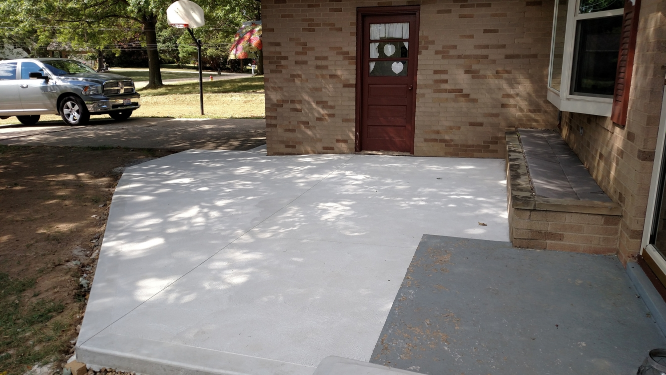 completed front patio